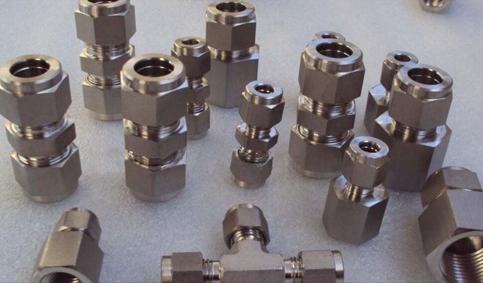 Nickel UNS N02201 Compression Tube Fittings